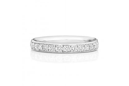 18ct White Gold Diamond Half-Eternity Ring
